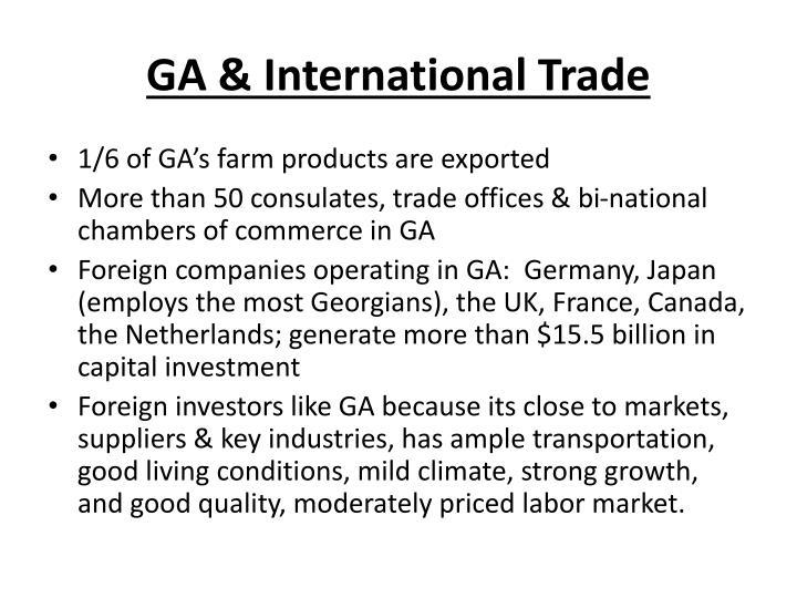 GA & International Trade