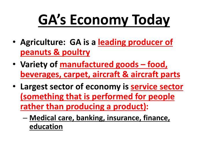 GA's Economy Today