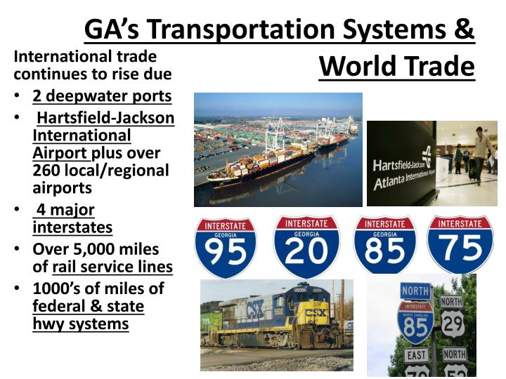 GA's Transportation Systems & World Trade