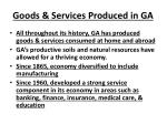 goods services produced in ga