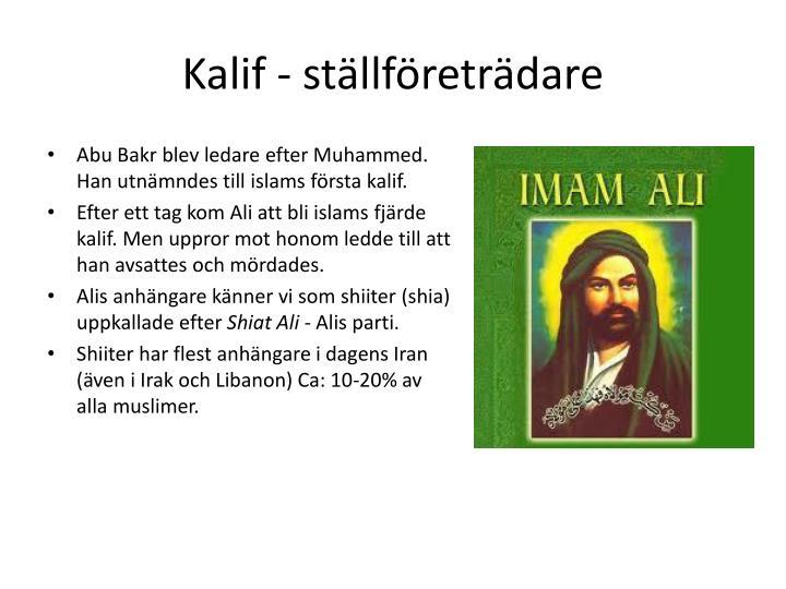 Kalif - ställföreträdare
