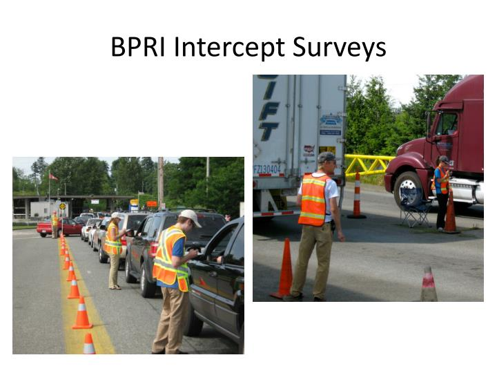 BPRI Intercept Surveys