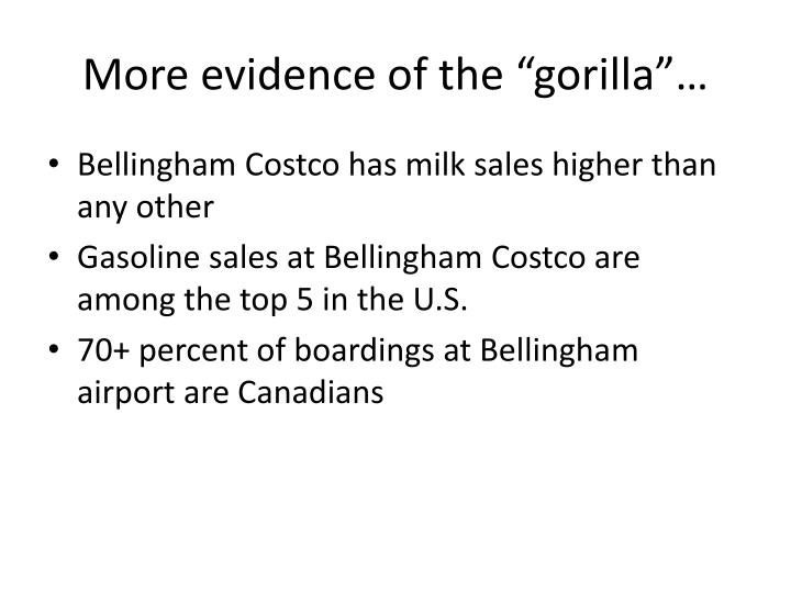 "More evidence of the ""gorilla""…"