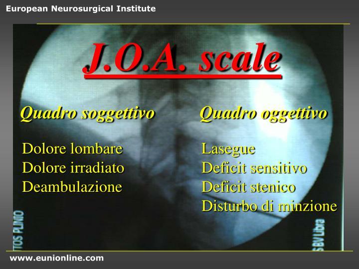 J.O.A. scale