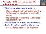 australia ifrs plus govt specific enhancements