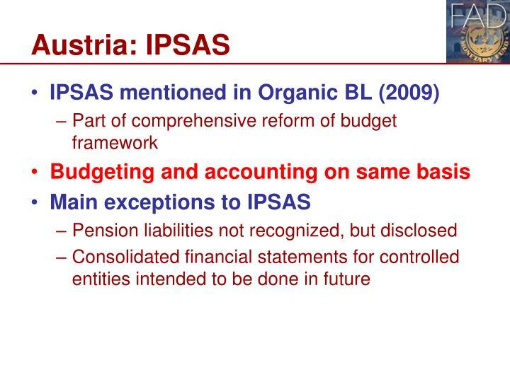 Austria: IPSAS