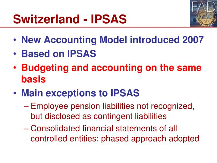 Switzerland - IPSAS