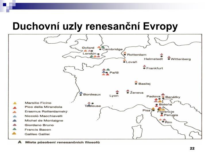Duchovní uzly renesanční Evropy