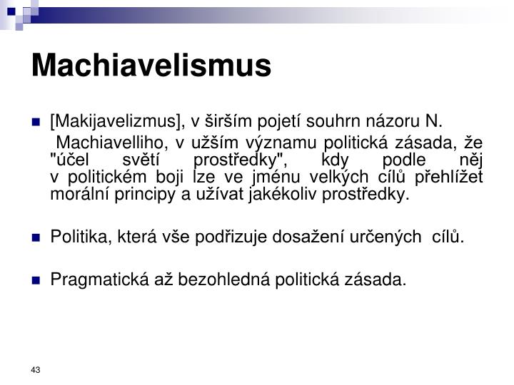 Machiavelismus