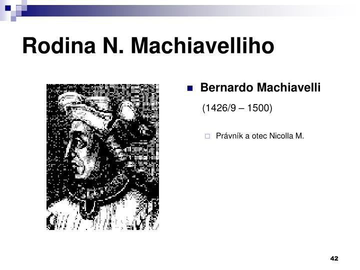 Rodina N. Machiavelliho
