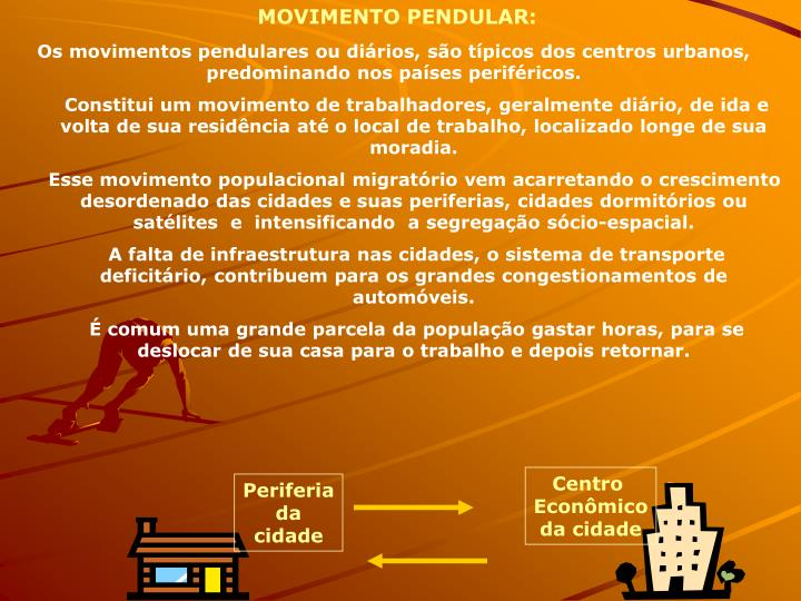MOVIMENTO PENDULAR:
