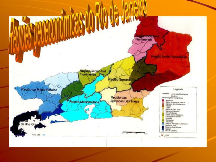 Regies geoeconmicas do Rio de Janeiro