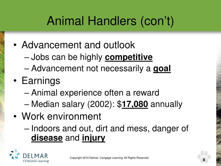 Animal Handlers (con't)