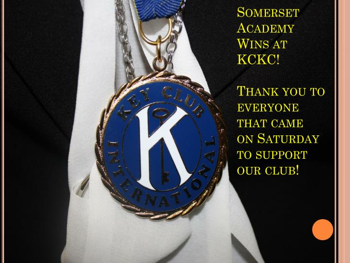 Somerset Academy Wins at KCKC!