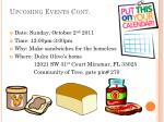 upcoming events cont
