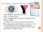 upcoming service projects