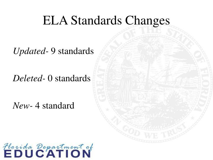 ELA Standards Changes