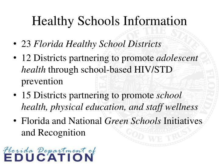 Healthy Schools Information