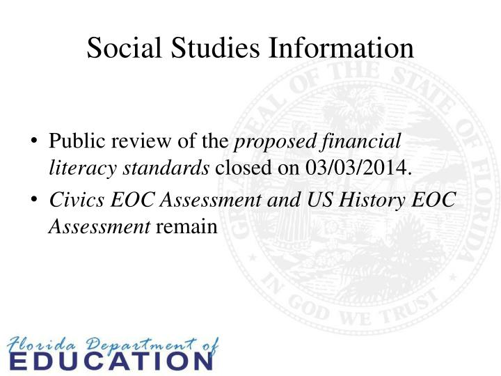 Social Studies Information