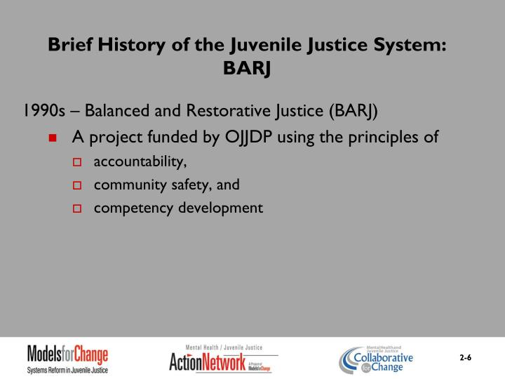 Brief History of the Juvenile Justice System: BARJ