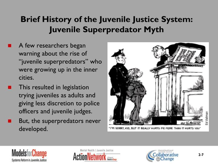 Brief History of the Juvenile Justice System: Juvenile Superpredator Myth