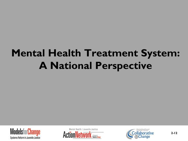 Mental Health Treatment System: