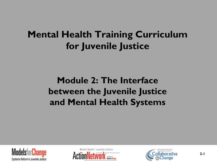 Mental Health Training Curriculum