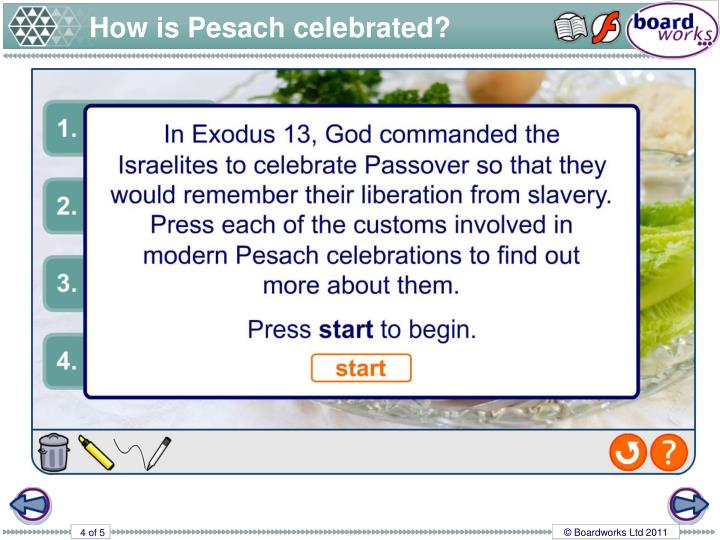 How is Pesach celebrated?