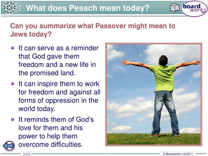 What does Pesach mean today?