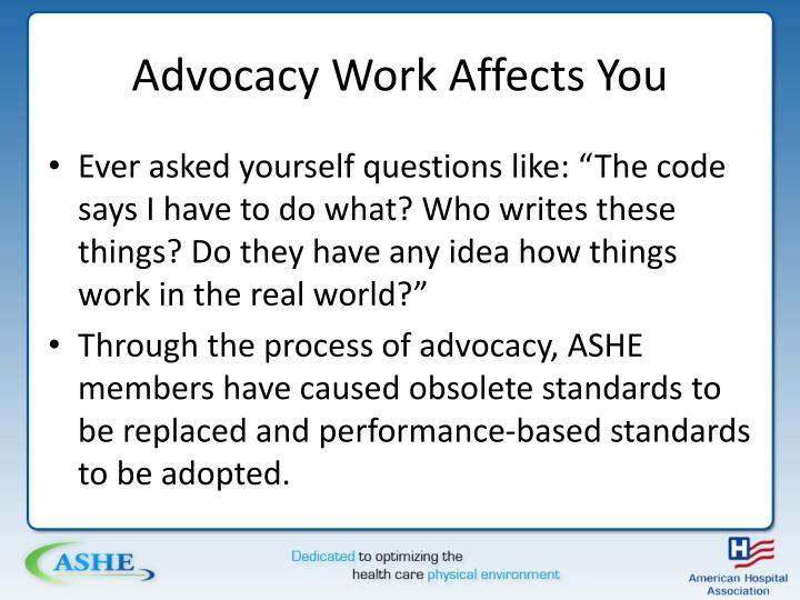 Advocacy Work Affects You