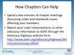how chapters can help