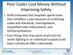 poor codes cost money without improving safety