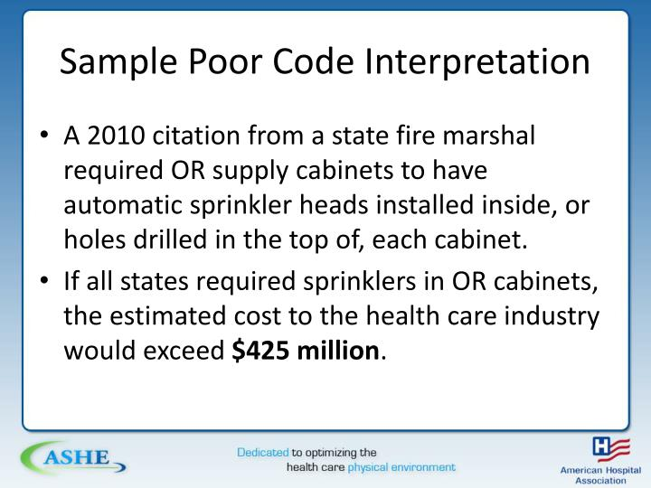 Sample Poor Code Interpretation