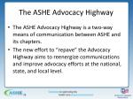 the ashe advocacy highway