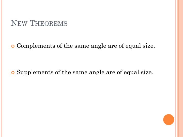 New Theorems