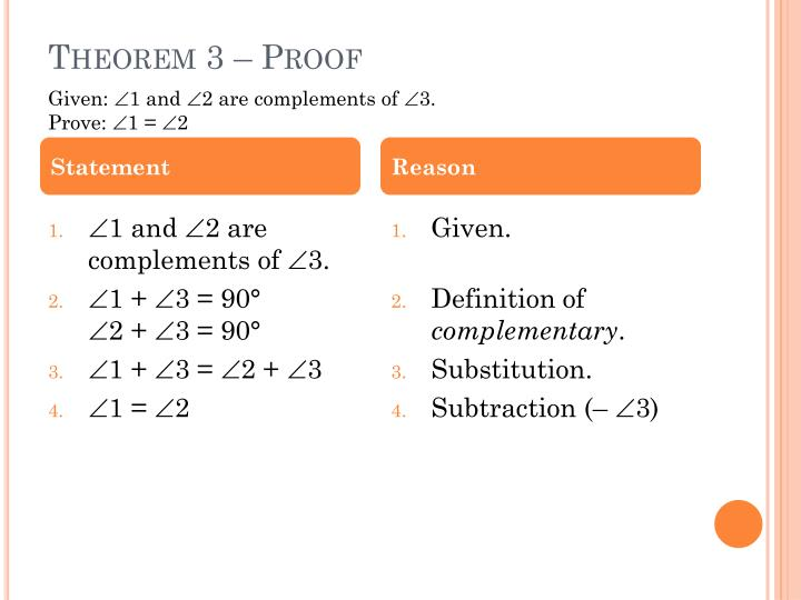 Theorem 3 – Proof