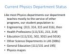 current physics department status1