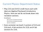 current physics department status4