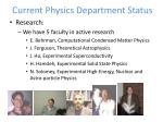 current physics department status7