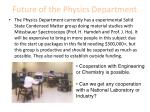future of the physics department10