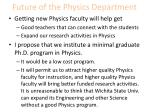future of the physics department2