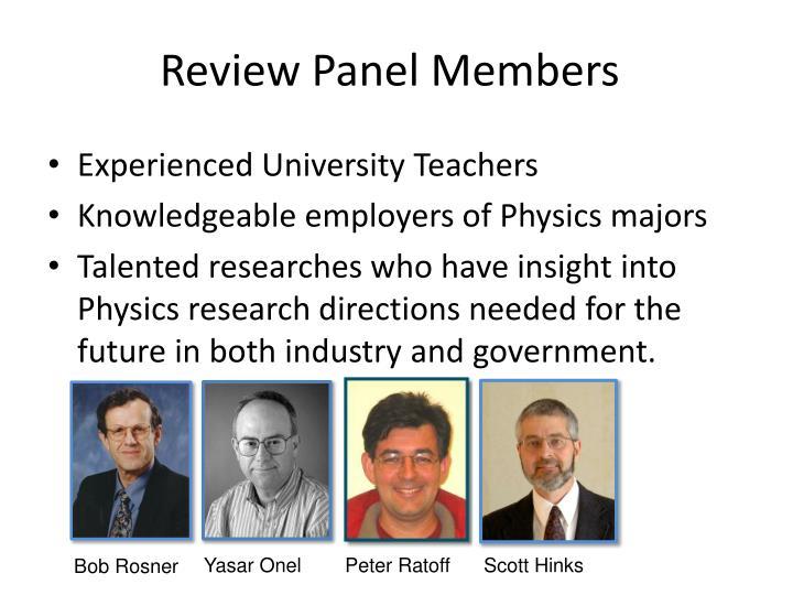 Review Panel Members