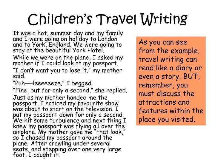 Children's Travel Writing