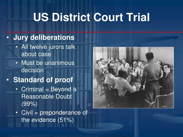 US District Court Trial