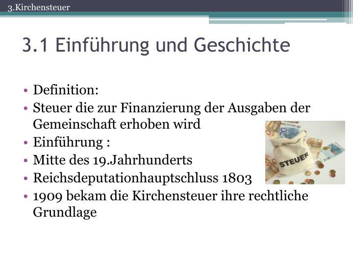 Kirchensteuer Geschichte