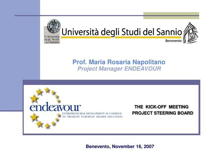 The kick off meeting project steering board