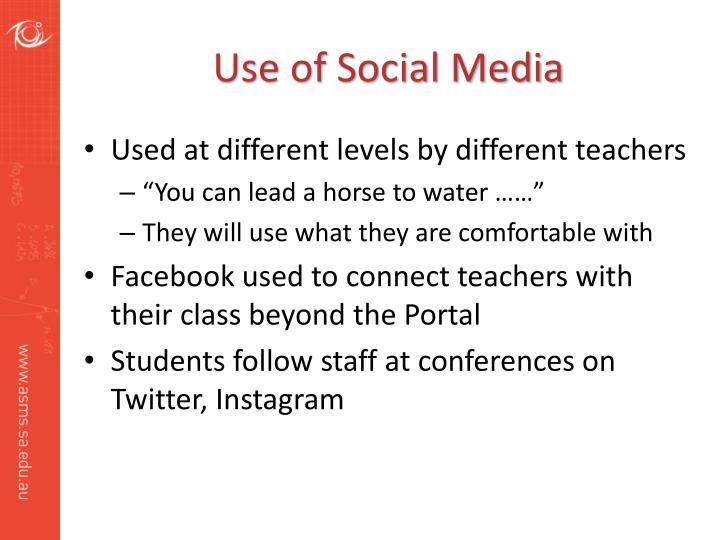 Use of Social Media
