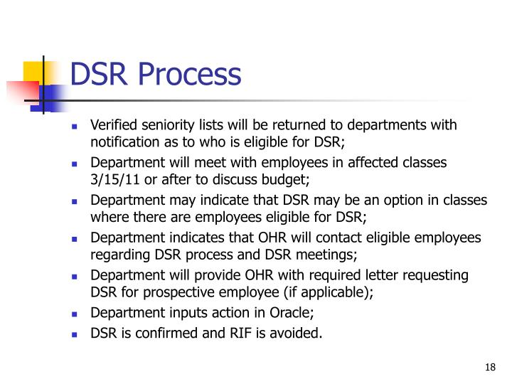 DSR Process