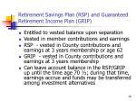 retirement savings plan rsp and guaranteed retirement income plan grip