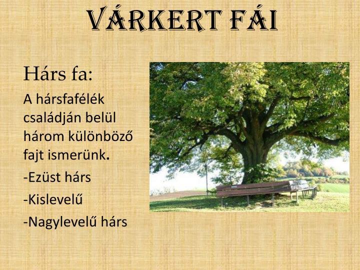 Várkert fái